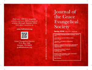 Journal of the GRACE EVANGELICAL SOCIETY