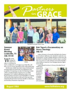 Partners in Grace Cover - August 2016
