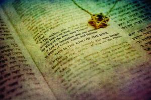 Scripture and star of david
