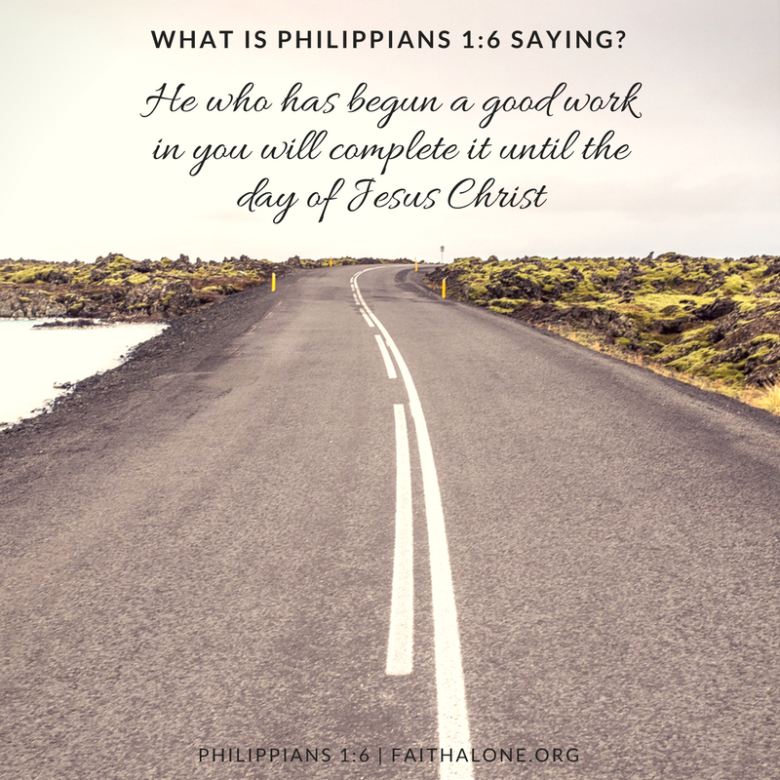 what is philippians 1 6 saying grace evangelical society